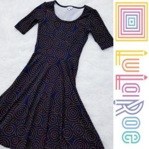 Lularoe Rainbow Spiral Print Nicole Dress